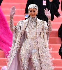 Mandatory Credit: Photo by Erik Pendzich/REX/Shutterstock (10229637bl) Gigi Hadid Costume Institute Benefit celebrating the opening of Camp: Notes on Fashion, Arrivals, The Metropolitan Museum of Art, New York, USA - 06 May 2019