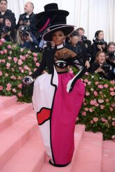 Mandatory Credit: Photo by David Fisher/REX/Shutterstock (10225566gt) Janelle Monae Costume Institute Benefit celebrating the opening of Camp: Notes on Fashion, Arrivals, The Metropolitan Museum of Art, New York, USA - 06 May 2019