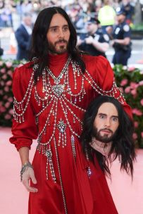 Mandatory Credit: Photo by David Fisher/REX/Shutterstock (10225566ed) Jared Leto Costume Institute Benefit celebrating the opening of Camp: Notes on Fashion, Arrivals, The Metropolitan Museum of Art, New York, USA - 06 May 2019