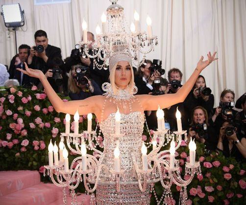 Mandatory Credit: Photo by David Fisher/REX/Shutterstock (10225566ez) Katy Perry Costume Institute Benefit celebrating the opening of Camp: Notes on Fashion, Arrivals, The Metropolitan Museum of Art, New York, USA - 06 May 2019