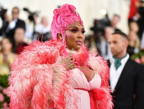 "Mandatory Credit: Photo by Charles Sykes/Invision/AP/REX/Shutterstock (10229712gl) Lizzo attends The Metropolitan Museum of Art's Costume Institute benefit gala celebrating the opening of the ""Camp: Notes on Fashion"" exhibition, in New York 2019 MET Museum Costume Institute Benefit Gala, New York, USA - 06 May 2019"