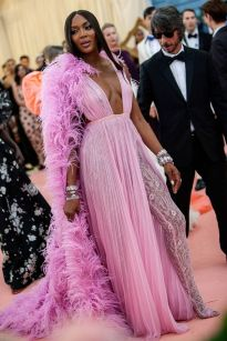 Mandatory Credit: Photo by Lexie Moreland/WWD/REX/Shutterstock (10227755en) Naomi Campbell Costume Institute Benefit celebrating the opening of Camp: Notes on Fashion, Arrivals, The Metropolitan Museum of Art, New York, USA - 06 May 2019