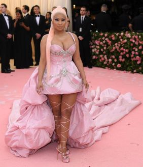 Mandatory Credit: Photo by David Fisher/REX/Shutterstock (10225566hz) Nicki Minaj Costume Institute Benefit celebrating the opening of Camp: Notes on Fashion, Arrivals, The Metropolitan Museum of Art, New York, USA - 06 May 2019
