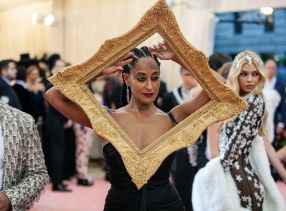 Mandatory Credit: Photo by Lexie Moreland/WWD/REX/Shutterstock (10227755cw) Tracee Ellis Ross Costume Institute Benefit celebrating the opening of Camp: Notes on Fashion, Arrivals, The Metropolitan Museum of Art, New York, USA - 06 May 2019