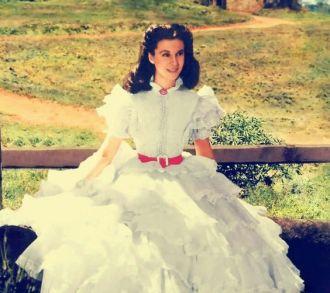 1. E O Vento Levou - Vestido Scarlett O'Hara by Walter Plumkett @ Reprodução (2)
