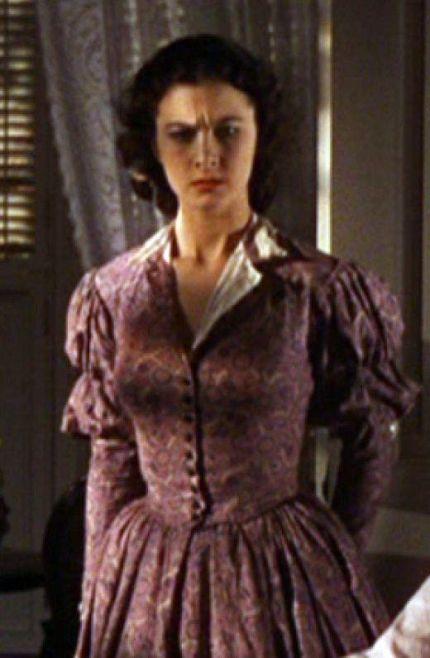 13. E O Vento Levou - Vestido Scarlett O'Hara by Walter Plumkett @ Reprodução (1)