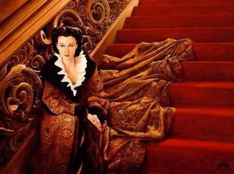 20. E O Vento Levou - Vestido Scarlett O'Hara by Walter Plumkett @ Reprodução1