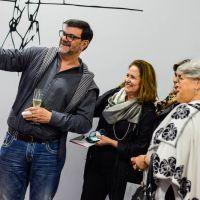 O coquetel de abertura da exposição Niemeyer em Curvas