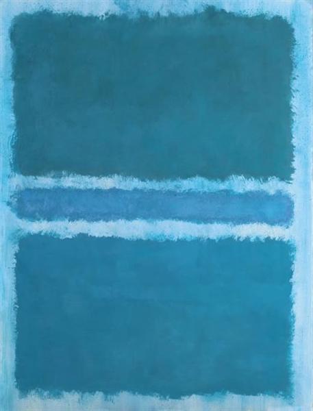 Mark Rothko - Untitled Blue Divided by Blue 1966 @ Mark Rothko