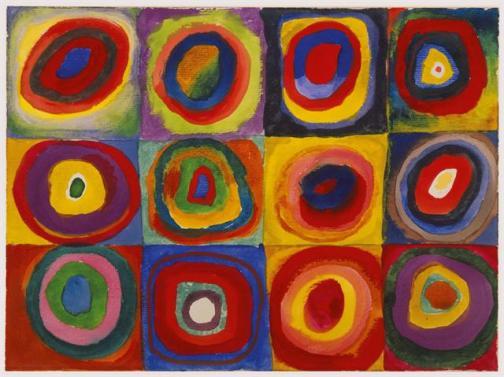Wassily Kandinsky Color Study Squares With Concentric Circles 1913 @ domínio público