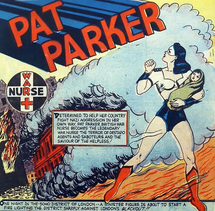 1941 Pat Parker - War Nurse - revista Speed Comics Harvey #3 @ Domíno Público1