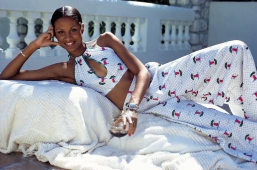 Beverly Johnson na Revista Glamour Maio 1973 © Rico Puhlmann para Condé Nast