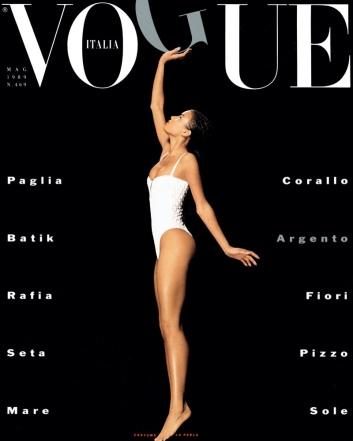 Veronica Webb na Vogue Italia - Maio 1989 @ Albert Watson